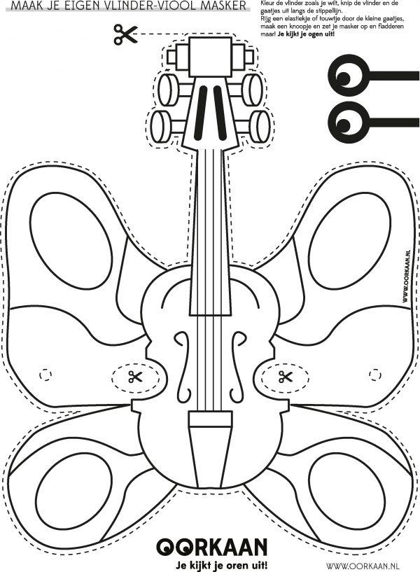 Maak een Vlinder-Vioolmasker