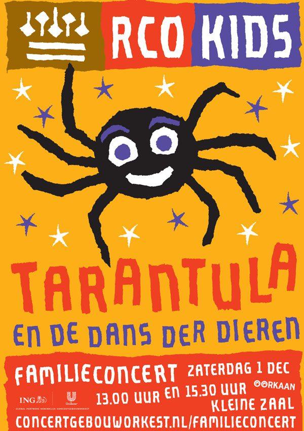 Tarantula en der dans de dieren
